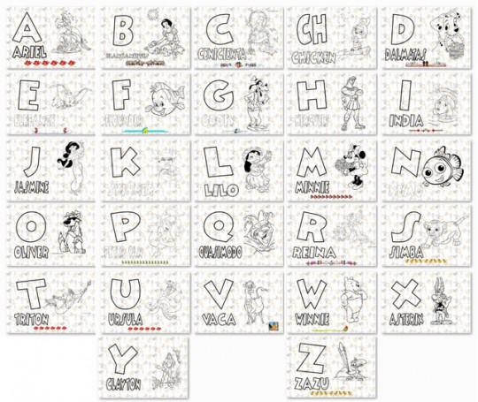 Lujo Alfabeto Animal Para Colorear Elaboración - Páginas Para ...