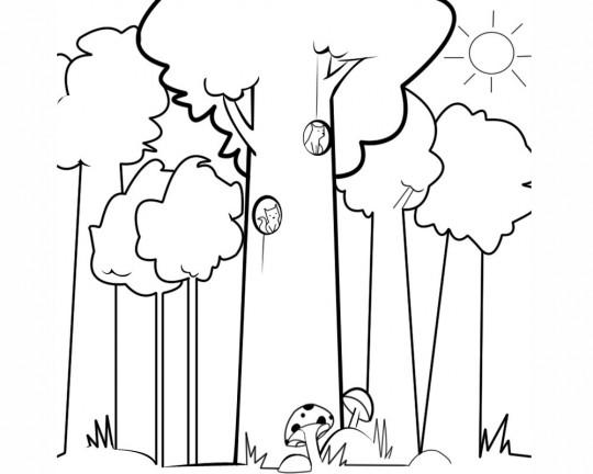 Arboles Para Colorear. Dibujo De Arbol Genealogico. Dibujos De ...