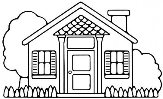 Casa para colorear for Pintar en casa