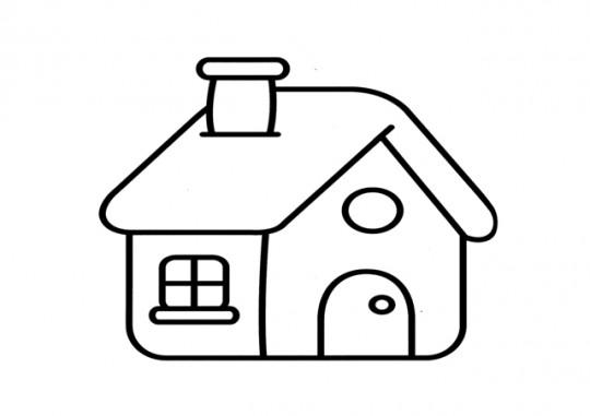 Casa para colorear Online