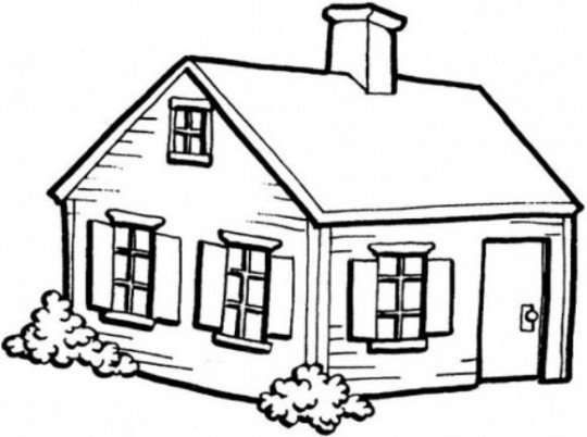 Dibujos de Casas y Vivendas - Dibujos para pintar