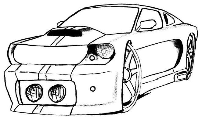 Dibujos de carros mustang para dibujar - Imagui