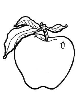 Frutas para colorear  Imagenes para dibujar