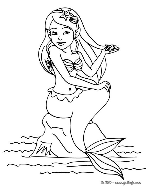 Imagenes para dibujar faciles for Coloring page mermaid