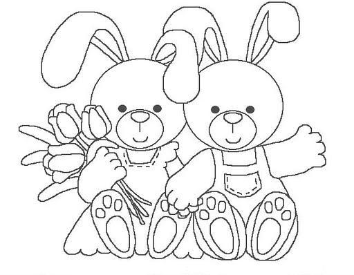 Conejo para colorear  Imagenes para dibujar