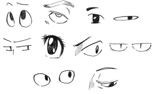 Dibujar ojos anime online