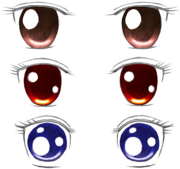 Dibujar ojos anime
