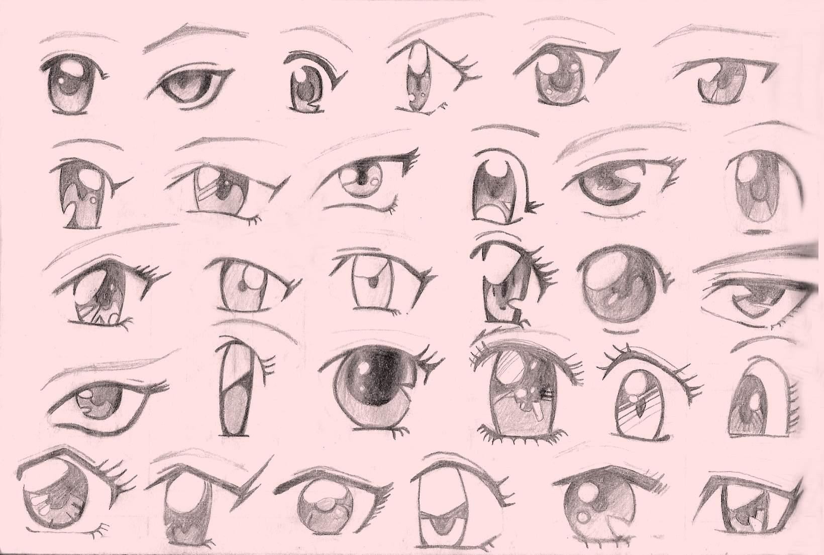 Dibujar ojos anime - Ojos ahumados para principiantes ...