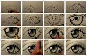 Dibujar ojos paso a paso gratis