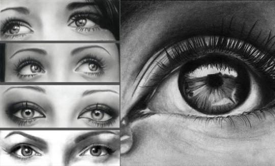 Dibujar ojos realistas