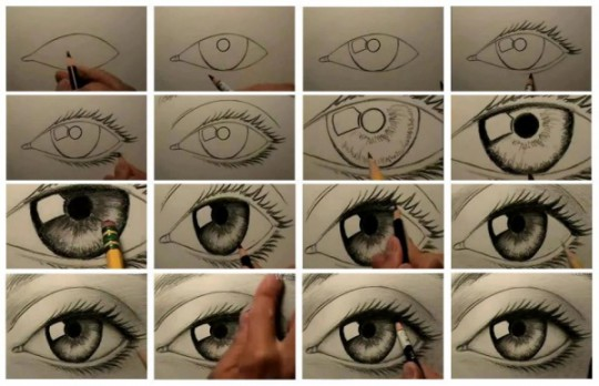Dibujar ojos realistas online