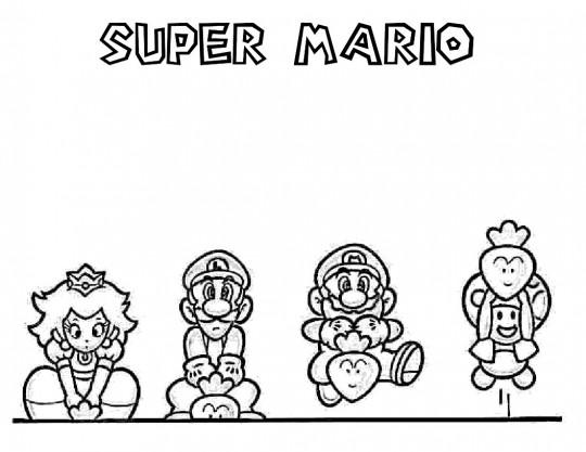 Juegos De Pintar A Mario Bros. Stunning Como Dibujar A Super Mario ...