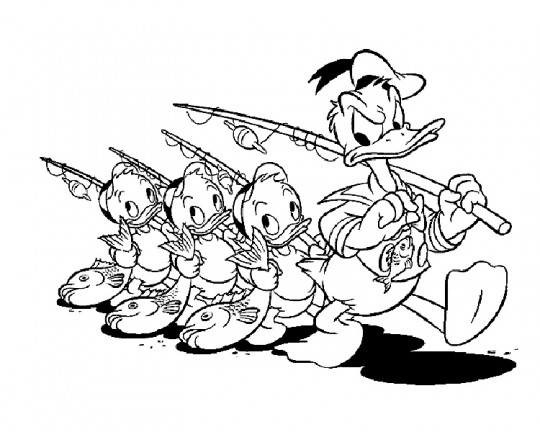 Dibujos para colorear de Disney donald