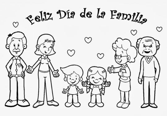 Familia para colorear  Imagenes para dibujar
