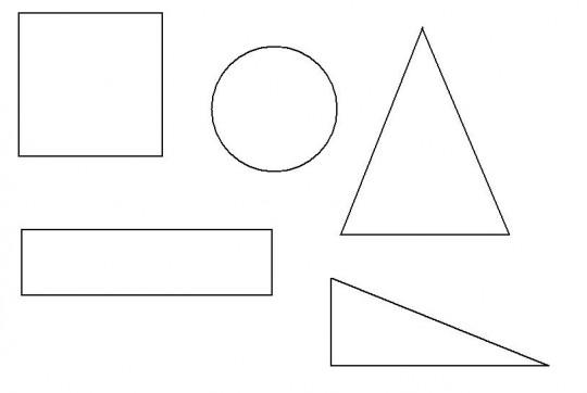 Figuras geometricas para colorear  Imagenes para dibujar