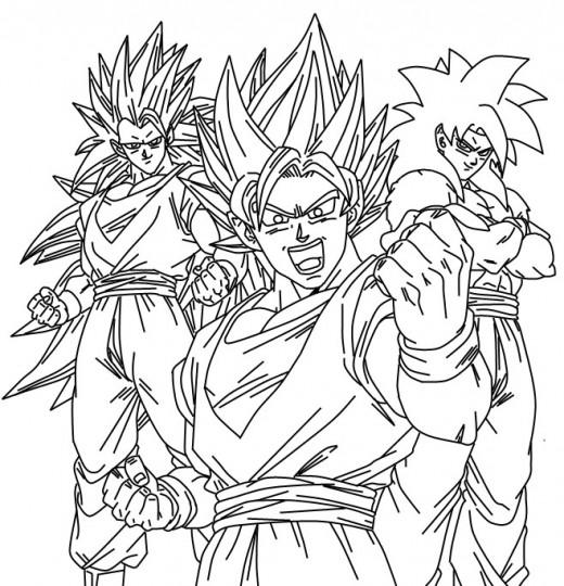 Goku para colorear  Imagenes para dibujar