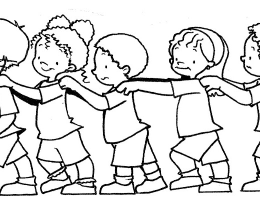 Imagenes De Personas Trabajando En Equipo: Dibujos Para Colorear De Niños Trabajando En Equipo