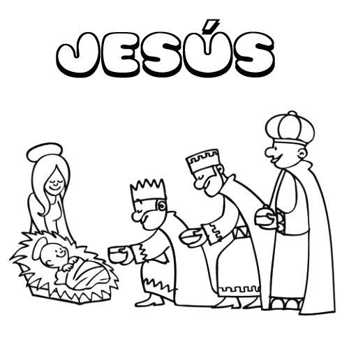 Imagenes de jesus para colorear for Dibujos postales navidad ninos