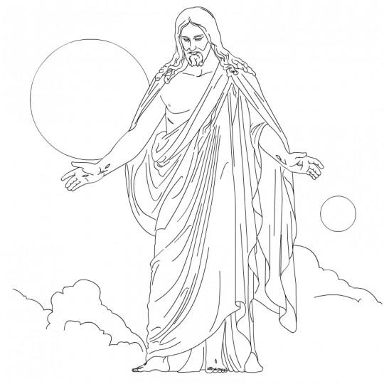 Imagenes Jesus Para Colorear