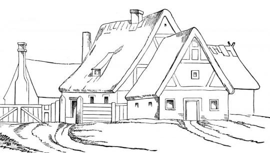 Imagenes de paisajes para colorear - Imagenes de casas para dibujar ...
