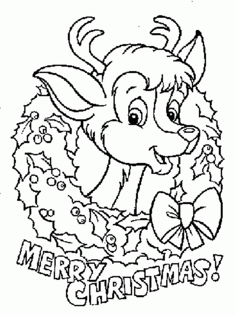 Único Linda Navidad Para Colorear Molde - Enmarcado Para Colorear ...