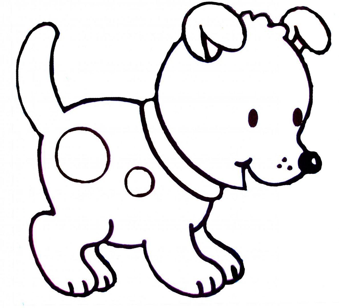 Imagenes de perros para colorear y dibujar - Dibujos infantiles para pared ...