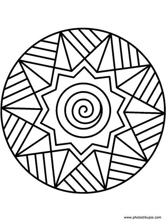 Imagenes De Mandalas Faciles Para Nios. Mandala Para Colorear Ms ...