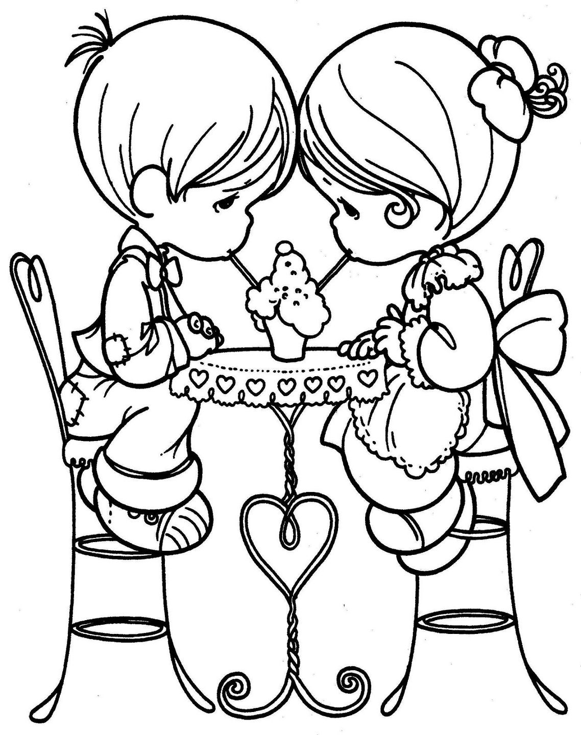 Precious Moments Couples Coloring Pages