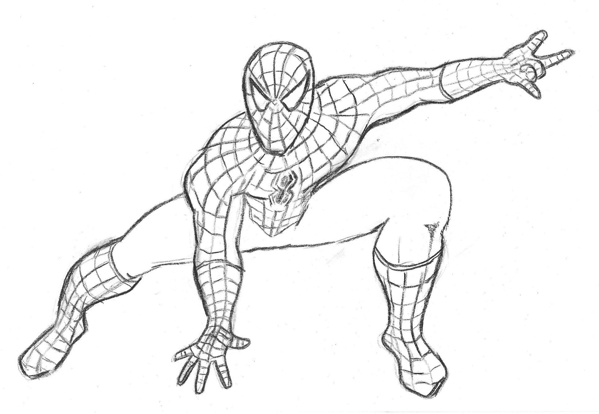 dibujos disney de spiderman para colorear: