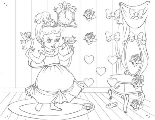 Juegos de princesas para pintar  Imagenes para dibujar