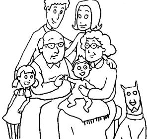 La familia para colorear  Imagenes para dibujar