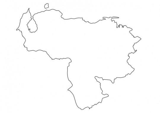 Mapa de venezuela para colorear