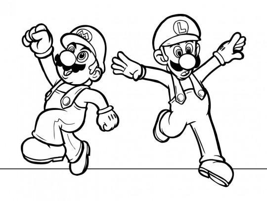 Mario bros para colorear gratis