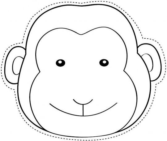 Mono para colorear y recortar