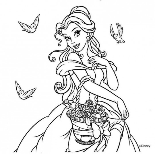 Princesas disney para colorear online