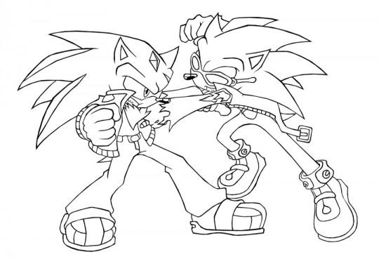 Sonic para colorear  Imagenes para dibujar