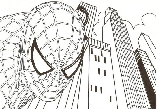 Spiderman para colorear
