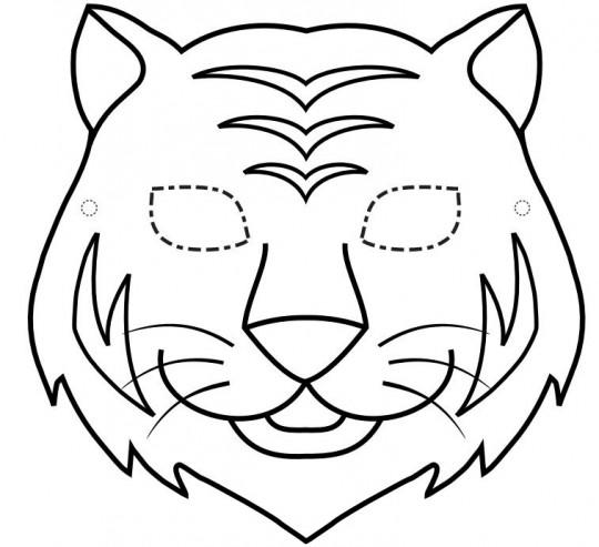 Tigre para colorear mascara