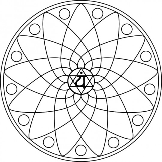 chakra symbols coloring pages - photo#28