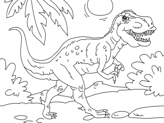 colorear dinosaurio