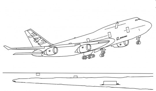 Aviones para colorear online