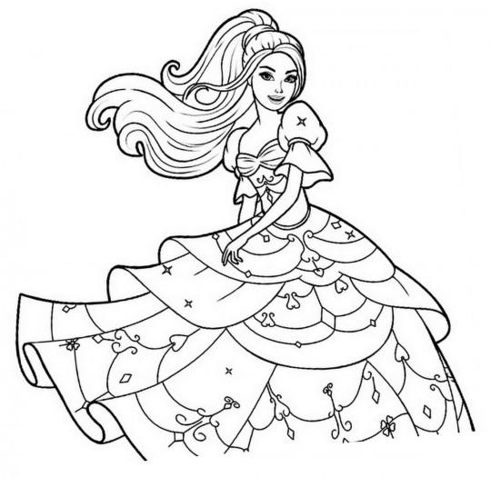 Barbie para pintar online