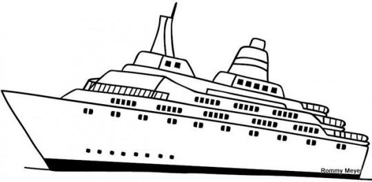 Barco para colorear y descargar