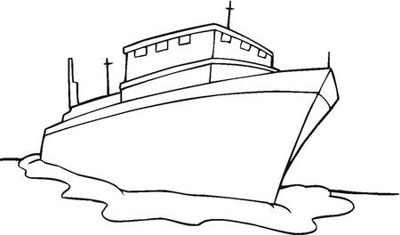 Barco para colorear.