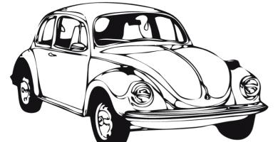 Carro para colorear clasicos