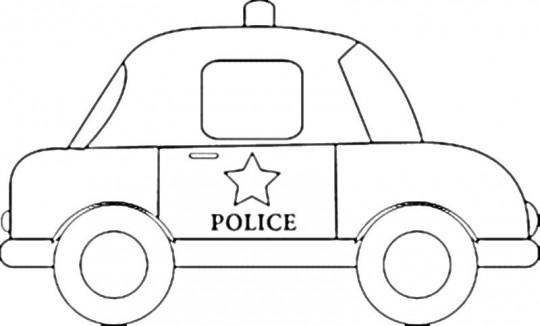 Carros para colorear policia