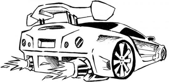 Carros para dibujar en casa