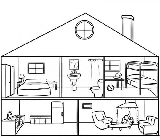 Casa colorear