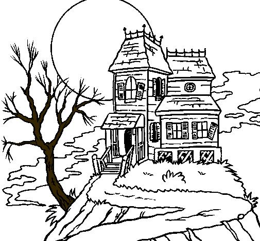 Casas para colorear dibujos