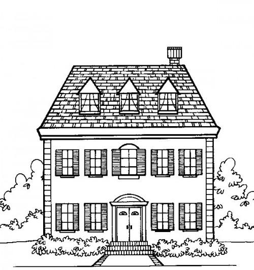Casa Para Colorear